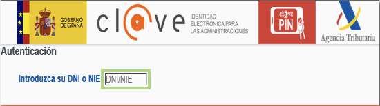 Obtener Cl@ve PIN Paso 1