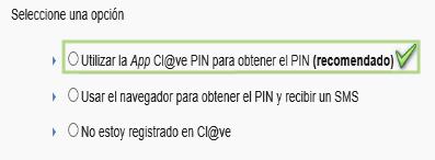 Obtener Cl@ve PIN Paso 2
