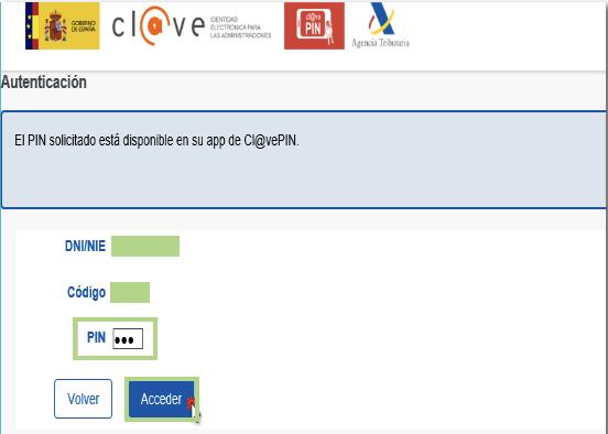 Obtener Cl@ve PIN Paso 5
